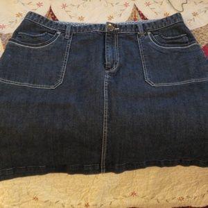 CJ Banks Size 18W Womans Jean Skirt